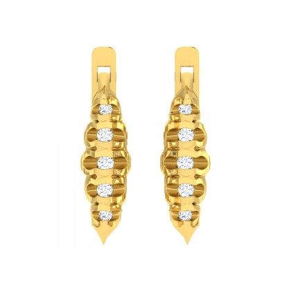 DALILA DIAMOND HOOPS EARRINGS in 18K Gold
