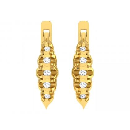 DALILA DIAMOND HOOPS EARRINGS in 18K Gold