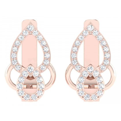 CHANTAL DIAMOND HOOPS EARRINGS in 18K Gold