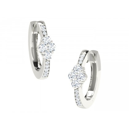 CASSANDRA DIAMOND HOOPS EARRINGS in 18K Gold