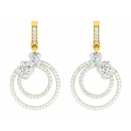 DELILA DIAMOND DROPS EARRINGS in 18K Gold