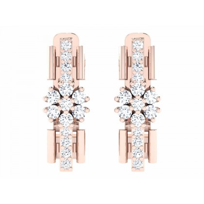 HUI DIAMOND HOOPS EARRINGS in 18K Gold