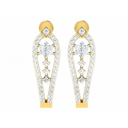 CRISSY DIAMOND DROPS EARRINGS in 18K Gold