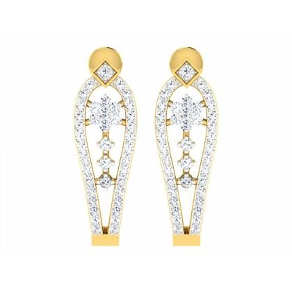 CRISSY DIAMOND DROPS EARRINGS in 18K Gold