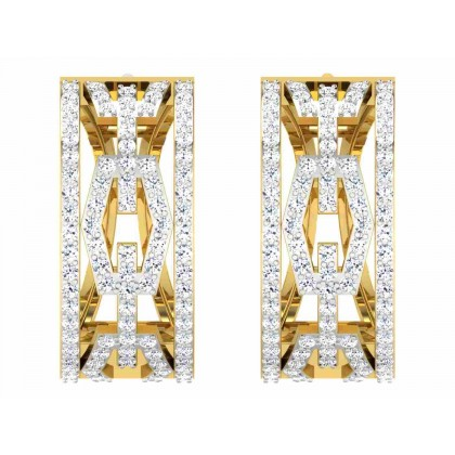 MALISA DIAMOND HOOPS EARRINGS in 18K Gold