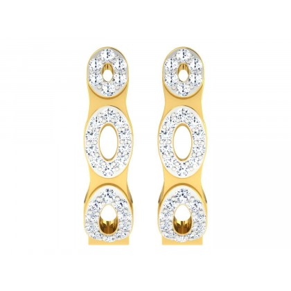 DIONNA DIAMOND HOOPS EARRINGS in 18K Gold