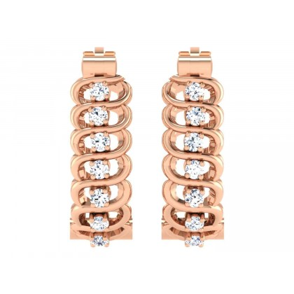 KRYSTLE DIAMOND HOOPS EARRINGS in 18K Gold