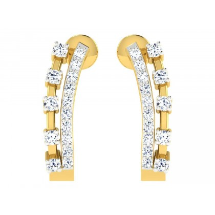 SOMMER DIAMOND HOOPS EARRINGS in 18K Gold