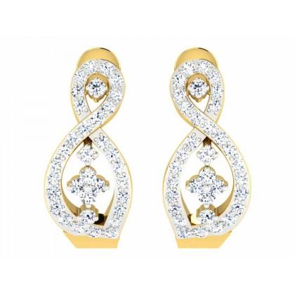 HANNAH DIAMOND HOOPS EARRINGS in 18K Gold
