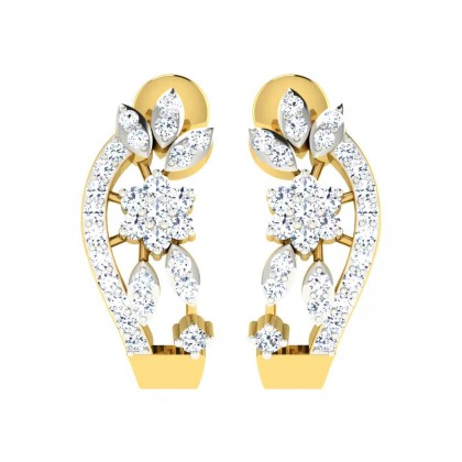 LAMONICA DIAMOND HOOPS EARRINGS in 18K Gold