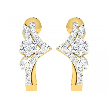 PATRINA DIAMOND HOOPS EARRINGS in 18K Gold