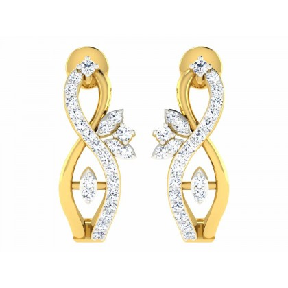 NELLY DIAMOND HOOPS EARRINGS in 18K Gold