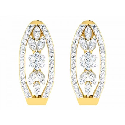 YUKIKO DIAMOND HOOPS EARRINGS in 18K Gold