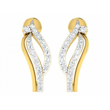 DEDE DIAMOND HOOPS EARRINGS in 18K Gold