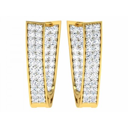 BERNEICE DIAMOND HOOPS EARRINGS in 18K Gold