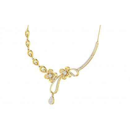 SIMONE DIAMOND  NECKLACE in 18K Gold