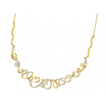 OLENE DIAMOND  NECKLACE in 18K Gold