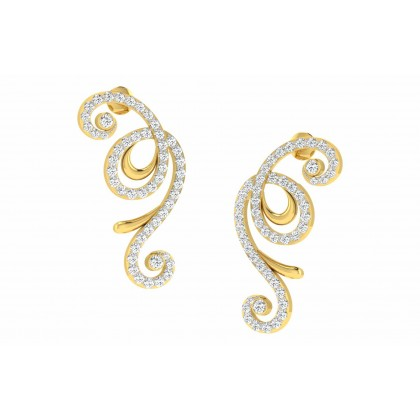 DARLENE DIAMOND DROPS EARRINGS in 18K Gold