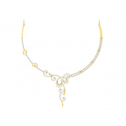 JI DIAMOND  NECKLACE in 18K Gold
