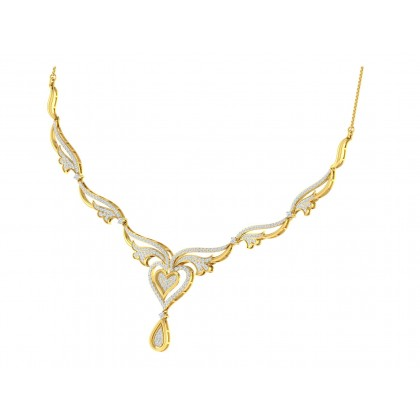 THERESSA DIAMOND  NECKLACE in 18K Gold
