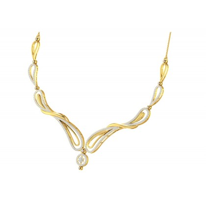 ALVERA DIAMOND  NECKLACE in 18K Gold