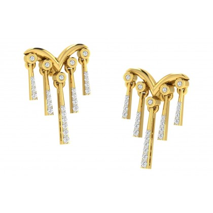 DEIDRA DIAMOND DROPS EARRINGS in 18K Gold