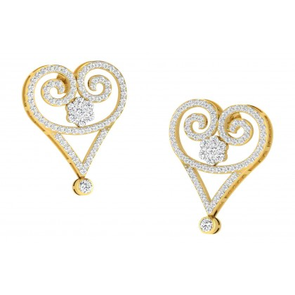 TESS DIAMOND DROPS EARRINGS in 18K Gold