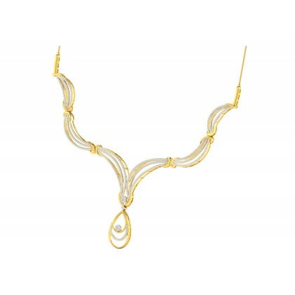 MANY DIAMOND  NECKLACE in 18K Gold