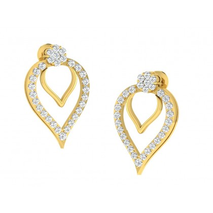 CASSANDRA DIAMOND DROPS EARRINGS in 18K Gold