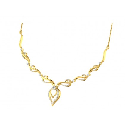 LUDIVINA DIAMOND  NECKLACE in 18K Gold