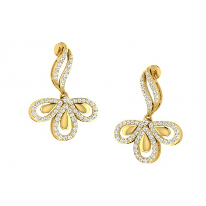JETTA DIAMOND DROPS EARRINGS in 18K Gold