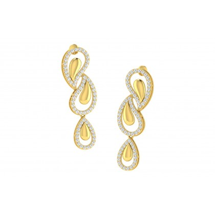 TESSA DIAMOND DROPS EARRINGS in 18K Gold