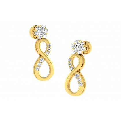 ALEJANDRA DIAMOND DROPS EARRINGS in 18K Gold