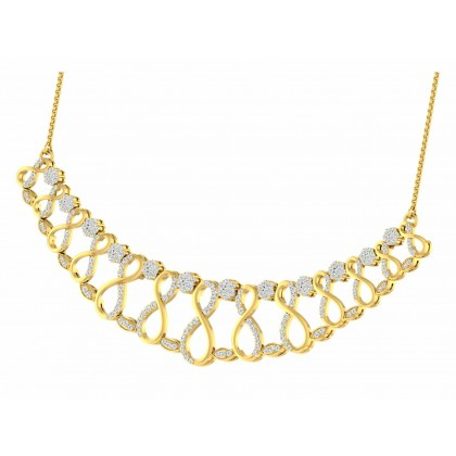 PAOLA DIAMOND  NECKLACE in 18K Gold