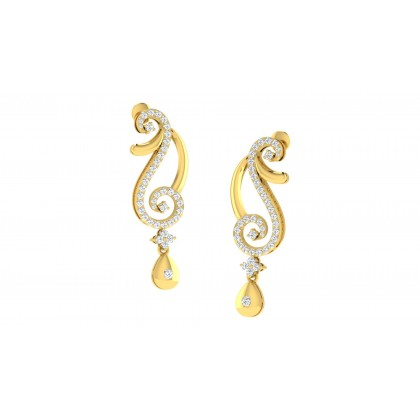 SLYVIA DIAMOND DROPS EARRINGS in 18K Gold