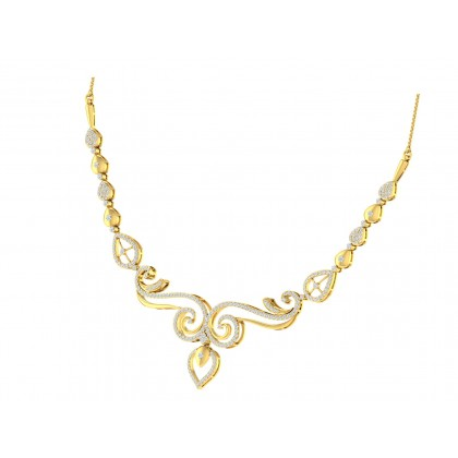 DORETHA DIAMOND  NECKLACE in 18K Gold