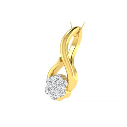 CAROLE DIAMOND FLORAL PENDANT in 18K Gold