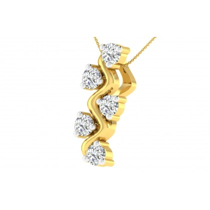 SHENIKA DIAMOND FASHION PENDANT in 18K Gold