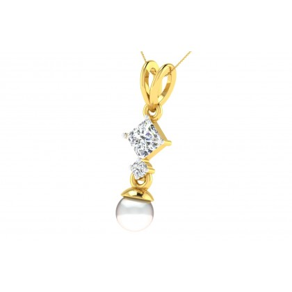 CHRISTA DIAMOND FASHION PENDANT in 18K Gold
