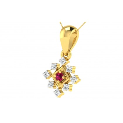 MICHELL DIAMOND FASHION PENDANT in Ruby & 18K Gold