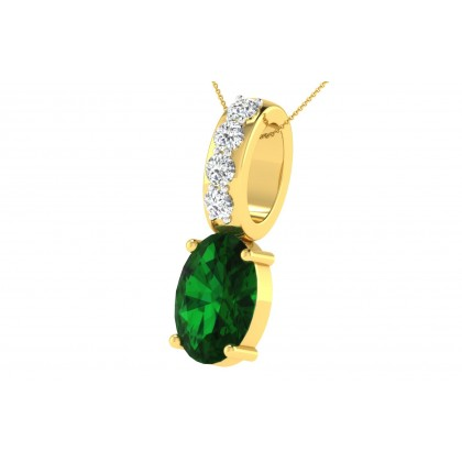 TWANNA DIAMOND FASHION PENDANT in Emerald & 18K Gold