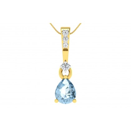 CATHERIN DIAMOND FASHION PENDANT in Sapphire & 18K Gold