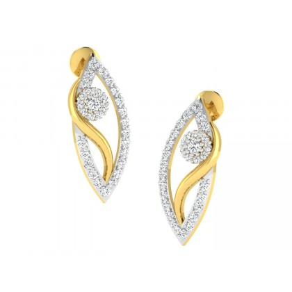 MARIKO DIAMOND STUDS EARRINGS in 18K Gold