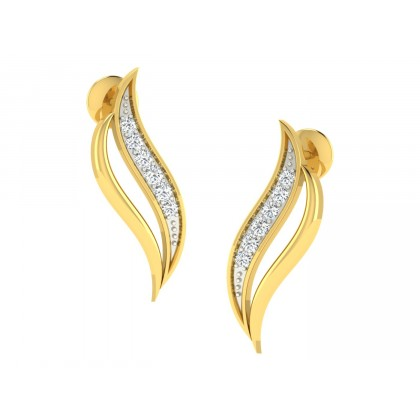 LESA DIAMOND STUDS EARRINGS in 18K Gold