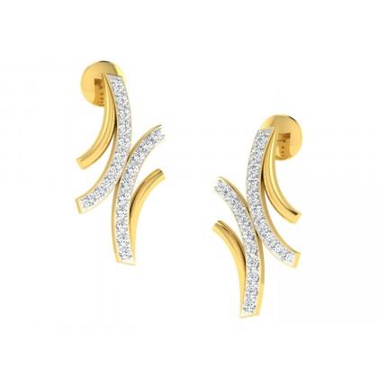 LIBERTY DIAMOND STUDS EARRINGS in 18K Gold