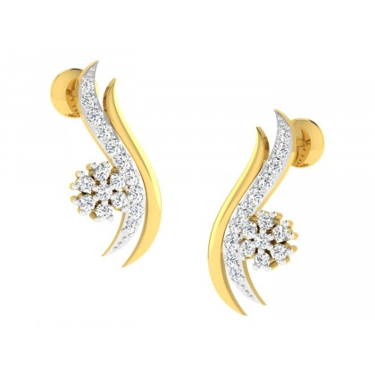 RENEA DIAMOND STUDS EARRINGS in 18K Gold