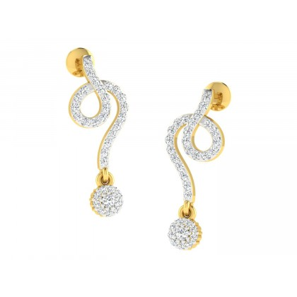 INGA DIAMOND DROPS EARRINGS in 18K Gold