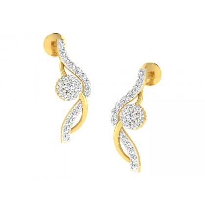 SHANTI DIAMOND DROPS EARRINGS in 18K Gold