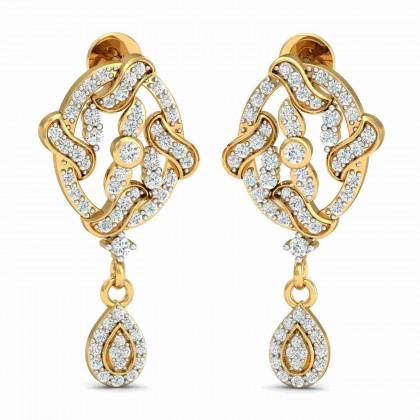 SHAREN DIAMOND DROPS EARRINGS in 18K Gold