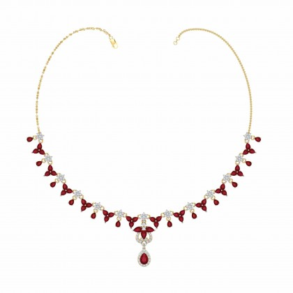KIRSTIN DIAMOND  NECKLACE in 18K Gold